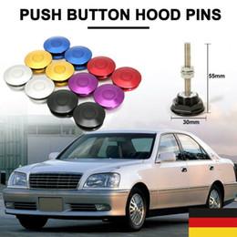 1Set 30mm Push Button Hood Pins Lock Clip Kit Engine Bonnet Lock Car Quick Latch