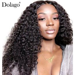 Perruques avant en lacet remy en Ligne-13x6 avant de lacet perruques de cheveux humains pour les femmes 150% de la densité profonde bouclés brésiliens dentelle perruque frontale sans colle Dolago Noir Full End Remy
