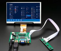 display de placa lcd Desconto 1024 * 600 Tela Monitor LCD TFT com Placa de Controle Remoto Driver 2AV HDMI VGA para Lattepanda, Pi Raspberry Banana Banana