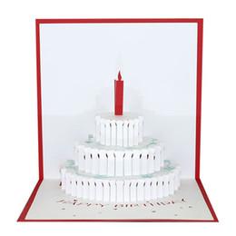 Carta di pop-up di compleanno 3D carta stereoscopico pop-up di carta da regalo creativo di buon natale a buon natale da