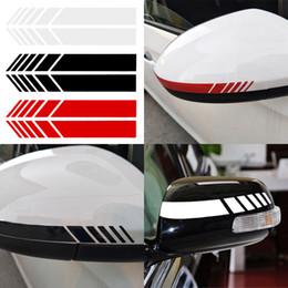 autocollants miroir côté Promotion 2 pcs 3 couleurs auto voiture rétroviseur autocollant autocollants de voiture badge autocollant bricolage miroir décor côté décalque stripe accessoires