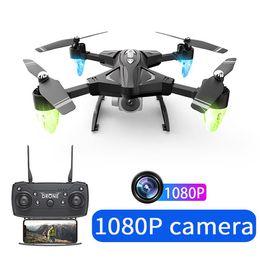 2019 câmera dron Novo RC quadcopter Drone HD Câmera 480 P / 1080 P WIFI FPV Selfie Dron Profissional Dobrável Quadcopter 18 Minutos Da Bateria Fly câmera dron barato