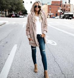 Женская одежда Зима искусственного меха куртка свободные моды с капюшоном пальто большой карман мягкий теплый пальто плюс размер 4XL 5XL от Поставщики вязать длинную шубу из кролика