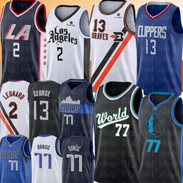 2019 kawhi leonard jersey NCAA Kawhi 2 Leonard Paul 13 George Jersey Faculdade Luka 77 Doncic Jersey New Mens Bordado Basketball Jerseys Tamanho S-XXL desconto kawhi leonard jersey