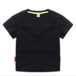 2019 Moda Bambini 1-9 anni t Camicia Bambini Bavero maniche corte T shirt Ragazzi ragazza Tops Abbigliamento Marche Solid Tees Ragazze Camicie di cotone erioe da