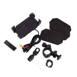 ngk stecker Rabatt Motorrad einziehbare Ein-Schlüssel-Reset-Telefon-Ständer-Halter mit 2 in 1 USB-Autoladegerät