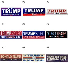 2019 drapeau en nylon 2020 Donald Trump Élection Autocollants De Voiture Autocollant De Voiture Keep Make America Grand Decal pour Car Styling Vehicle Paster