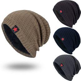 atacado de fone de ouvido no inverno Desconto Cap Knit Unisex Hedging cabeça chapéu Beanie Quente Moda Knit Caps Feminino Casual Acrílico Gorros Mujer Touca Inverno Homens Chapéus de Inverno