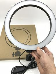 2019 luz de cabeça de vídeo Fotografia LEVOU Selfie Anel de Luz 16/26 cm de três velocidades Stepless Iluminação Dimmable Com Cabeça de Berço Para Maquiagem de Vídeo Estúdio Ao Vivo luz de cabeça de vídeo barato