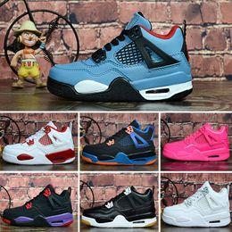 denim-tattoo Rabatt Nike Air Jordan 4 Mens J 4 Jumpman Basketballschuhe 4s schwarz Denim Laser Weiß Cement Pale Citron Oreo Tattoo Luft Flug j4 Kinder Turnschuhe