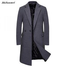 2020 koreanische graue männer langer mantel Langarm Wintermantel Korean Business Herren Mantel Stehkragen Herren Schwarz Grau Mantel Herren Casual Langjacke Abrigo Hombre günstig koreanische graue männer langer mantel