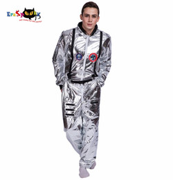 pop tv Coupons - Accessories Cosplay Costumes Men Astronaut Alien Pop Dancer Stage Spaceman Costume Carnival Party Club Adult Male Outfits Clothing Hallow...