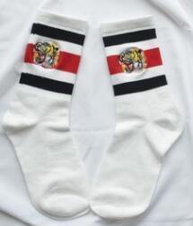 Meias atléticas masculinas on-line-Tigre Embroideried Meias Das Mulheres Dos Homens de Skate Roupa Interior Streetwear Meias Meias Design Listrado Amantes Mistura de Algodão Meias Atlético
