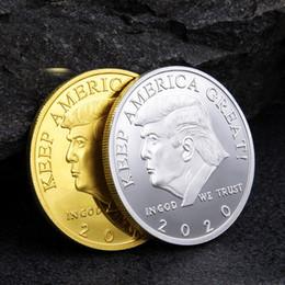 pluma de incienso Rebajas Moneda conmemorativa de Donald Trump de 2020 Presidente estadounidense Monedas de oro Insignia Colección de artesanía de metal Moneda Mantenga a América GRANDE nuevamente