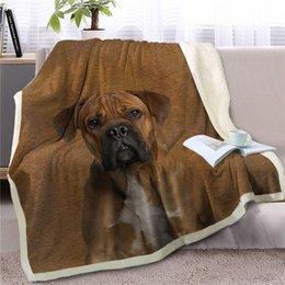 2019 детская фланелевая ткань HM Life Sherpa Одеяла на кровати Brown Dog животных 3D Printed Throw Одеяло для взрослых Kid Портативного Одеяла носимого Путешествия Плюшевого