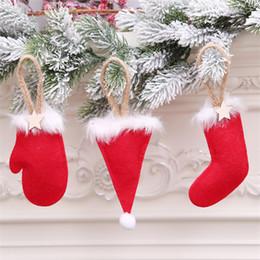 giocattoli all'ingrosso del harry potter Sconti 3 Stili Albero di natale ciondolo Guanti Cappello Guanti Forma Albero di Natale Ornamenti decorazioni per feste di Natale Artigianato fai da te DHL JY441