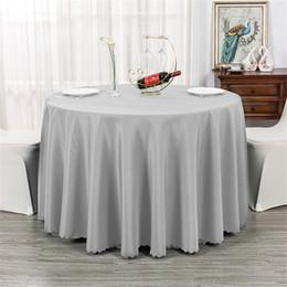 Toalha de mesa lisa on-line-Branco / Ouro / Prata / Rosa / Violeta Plain TableCloth Praça / Rodada / retângulo Tecidos De Mesa de Casamento Overlay Tampa Do Partido decoração suprimentos de Casamento