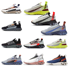 Scarpe da tennis marrone per le donne online-2019 Air Nike React LW WR ISPA reagisce scarpe da corsa per uomo donna tennis Ghost Aqua Gunsmoke Antracite Elvet Marrone Sneakers sportive 36-45