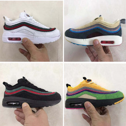 Argentina Nike air max 97 Niños 2018 zapatos niños Zapatillas Boy Girl Toddler Youth 2018 plus tn 97 Trainer Cushion Surface Zapatillas deportivas transpirables supplier zoom running shoes Suministro