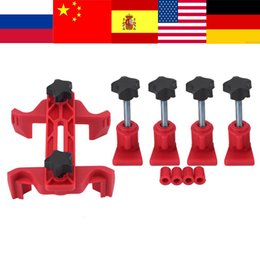 conjunto de herramientas de sincronización del motor Rebajas 9 Unids / set Coche Auto Dual Cam Clamp Engine Diesel Timing Piñón Gear Locking Tool Kit Componentes de sincronización del árbol de levas Universal