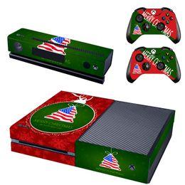 2019 calcomanías para xbox one Etiqueta de la etiqueta engomada de la cubierta de navidad para la consola xbox one Kinect 2 skins controlador de videojuegos pegatina consola calcomanías para xbox one baratos