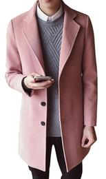 mens casual wolle erbse jacke Rabatt Mens Casual Wollen Coat Einreiher Long Pea Coat Trenchcoat Winter Freizeitjacke Mens Cashmere Wool