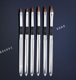 Nylon Sable brosse acrylique 5pcs / SET taille 2 # / 4 # / 6 # / 8 # / 10 # brosse. Acrylique noir kolinsky sable acrylique brosse à ongles kolinsky ? partir de fabricateur