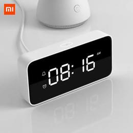 Original Xiaomi Xiaoai Reloj despertador inteligente Relojes de sobremesa Reloj de transmisión de voz ABS AutomaticTime Calibration Mi Home App desde fabricantes