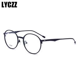 Очки для деловых мужчин онлайн-LYCZZ Business Retro Ultralight Round Women Eyeglasses Titanium Glasses Frame Men Screwless Myopia Prescription  Eyewear