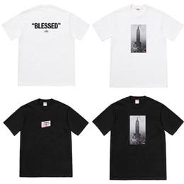 Costruzione t shirt online-Estate T Shirt manica corta Uomo e donna Soft Cotta Sup Brand Vestiti larghi Empire State Building Nero Bianco 45kc D1