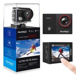 esportes escondidos da câmera Desconto AKASO Go EK7000 Pro Câmera de Ação 4K com Tela de Toque EIS Ângulo de Visão Ajustável 40m Câmera de Mergulho Controle Remoto Esportes