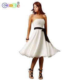 dd196580a63 casual short chiffon wedding dresses Canada - Coobee Short Bridesmaid Dress  2018 Luxury Sweetheart Pleat A