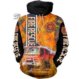 Fire Fighter Zip Up Hoodie Hero Axes Hooded Sweatshirt for Men
