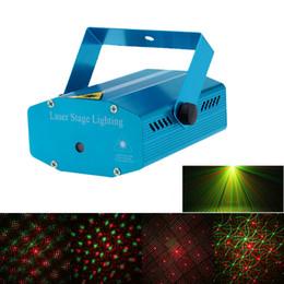 2019 mini estrela laser estágio iluminação Mini Portátil LED Projetor Laser Luzes Do Estágio Auto Efeito de Luz de Ativação de Voz Com Tripé para Disco DJ KTV Festa Em Casa Natal