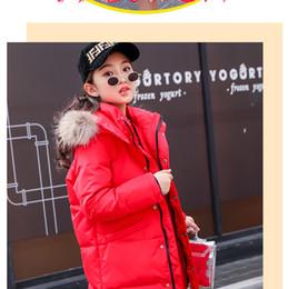 Kinder s lange daunen online-Männer und Frauen Kinder Daunenjacke Neue koreanische Version des langen Winters im dicken Mantel der Kinder liu wen kang