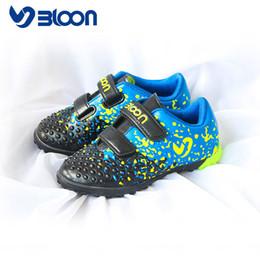 2019 nuevo diseño de zapatos de futbol BLOON Nuevos zapatos de fútbol diseñados para niños pequeños Niños Niños Niños Zapatos de fútbol Botas de interior Tamaño de fútbol 26 -31 nuevo diseño de zapatos de futbol baratos