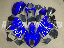 99 hayabusa injection mold Promo Codes - New ABS motorbike Fairings Kits+Tank cover Fit For SUZUKI Hayabusa GSXR1300 97 98 99 00 01 02 03 04 05 06 07 GSXR1300 1999-2007 glossy blue