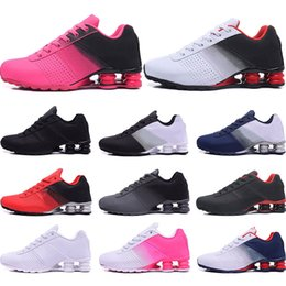 colorful tennis shoes Promo Codes - Designer Shoes R4 Nz Mens Running shoes black red gold blue white Pink colorful Cheap 2019 Athletic Trainers Sports Sneakers size 40-46