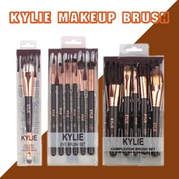 escovas de maquiagem fundação líquida Desconto Pincéis De Maquiagem Kylie Jenner Fundação Líquida Eyes Brushes High Tech Make Up Ferramentas Rosto Makup Brushes Set