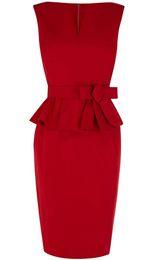 Deutschland Setwell 2019 Roter V-Ausschnitt Mantel Abendkleid Flügelärmel Kurze Länge Plissee Schößchen Abendkleid Mit Gürtel Versorgung