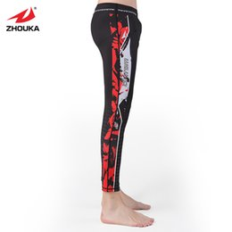 Leggings deportivas online-Compression Tight Pants Men Running Gym Training Leggings Sport Men Fitness Quick Dry Trousers For Me Calsas De Mujer Deportivas