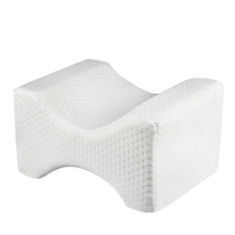 Almohadas de cuello para dormir online-Almohada ortopédica para el cuello de la rodilla para el alivio de la ciática Dolor de espalda / piernas Embarazo, cadera y dolor en las articulaciones - Almohada para dormir con contorno de espuma de memoria