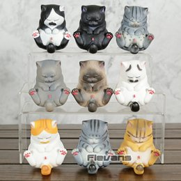 Poupée neko en Ligne-Belle Neko Cat Bells Mini PVC Chiffres Jouets Kawaii Chats À Collectionner Modèle Poupées Cadeau 9pcs / ensemble