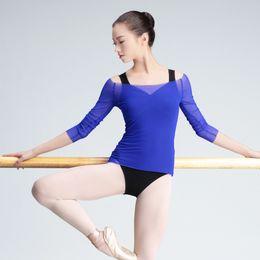 roter königinkragen Rabatt Transparent Erwachsener Frauen Ballett-Trikotanzug Mantel Kulttanz Kleidung Starke Stretch Gymnastik Trikot Kleidung zum Tanzen
