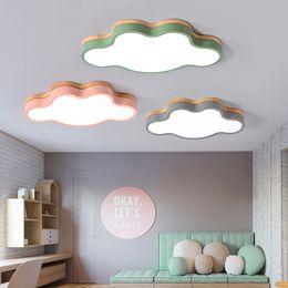 dessins de cuisine cool Promotion Moderne Nordique Conception LED Plafonnier Lampe pour Salon Cuisine Chambre Enfants Chambre Loft Décor Bébés Chambre 220V 110V