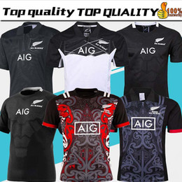 Taille du jersey de football en Ligne-2019 20 Nouvelle-Zélande Tous Les Blacks Maillot De Rugby Shirt 17 18 19 Saison, Tous Les Noirs Maillot De Rugby Mens 2018 Taille S-XXXL