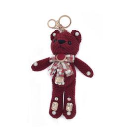 Kaninchenfell Ananas Grenze Teddybär Schlüsselanhänger Niedlichen Plüsch Bagand Kreative Schlüsselanhänger