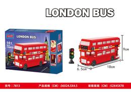 Argentina Bloiding bloques 1750 unidades Bloques LONDON BUS Juguetes de calidad para niños con caja de color Fuuny Hing Suministro