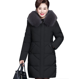 middle aged plus size clothing Coupons - OLN 2019 Women Winter Warm New Korean Coat Middle-age Long Coat Ladies Jacket Elegant Outwear Plus Size Women Tops Clothes HQB22