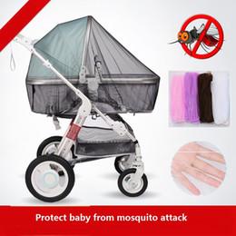 Mosquiteiro para bebês ao ar livre on-line-Carrinho de bebê Anti-mosquito Net Verão Infantil Stroller Criptografia Anti-mosquito Redes Nets Criança Stroller Control Nets Geral